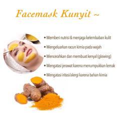 Ois Beauty- Masker Bubuk 100% Organik Masker Wajah KUNYIT - 50 gram