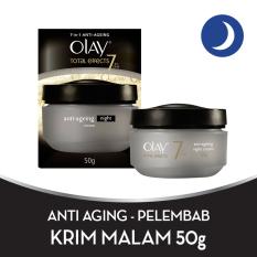 Spesifikasi Olay Anti Aging Pelembab Total Effects Night Cream 7 In 1 50Gr Merk Olay