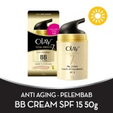 Promo Olay Anti Aging Pelembab Total Effects Touch Of Foundation Bb Cream Spf 15 7 In 1 50Gr Di Jawa Barat