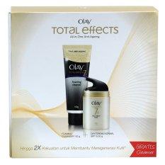 Olay Total Effect UV Cream 50 g + Cleanser 100 g Paket