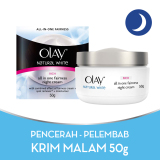 Harga Olay Whitening Pencerah Natural White Rich All In One Fairness Night Cream 50G Termurah