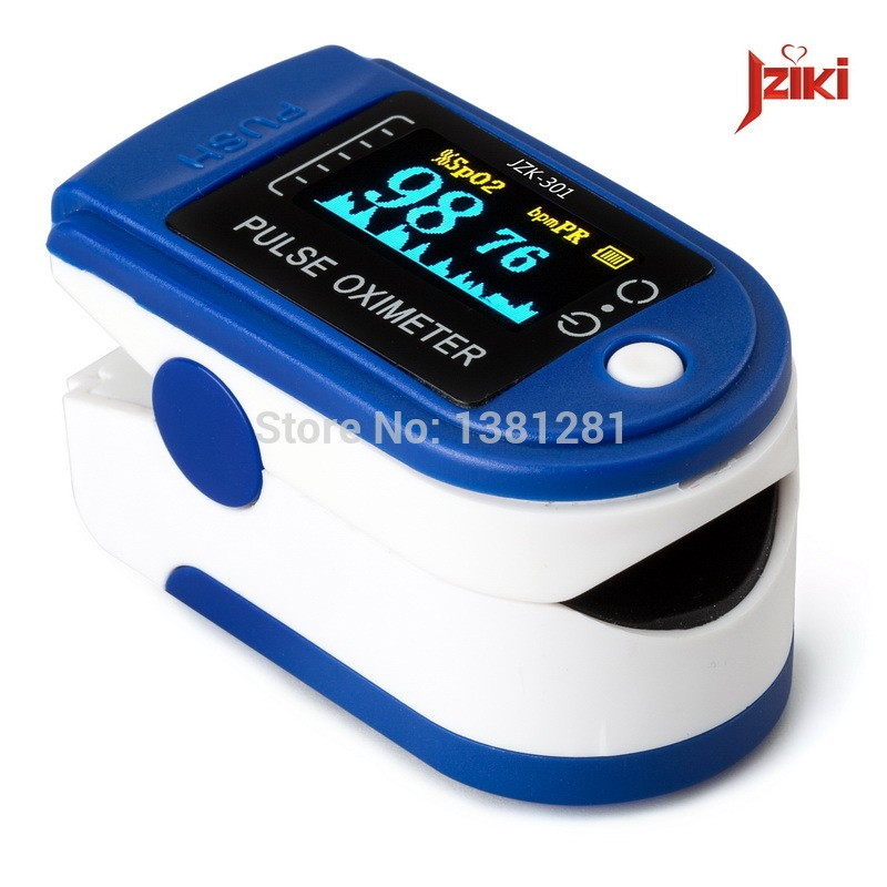 Oled Finger Pulse Oximeter Blood Oxygen SpO2 Saturation Oximetro Monitor Blood Pressure Meter Auxiliary Alarm Oximetry - intl