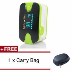 Situs Review Denshine Led Darah Oksigen Jari Tip Pulse Oximeter Spo2 Pr Monitor Dengan Audio Alarm Suara Pulse Gratis 1 Pcs Hitam Carry Case Hijau