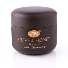 Jual Olive Honey Rice Scrub With Lightening Branded