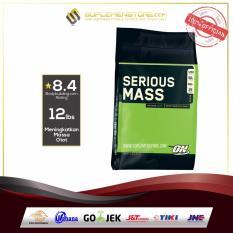 Obral Optimum Nutrition Serious Mass Gainer 12 Lb Chocolate Murah
