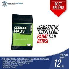 Harga Optimum Nutrition Serious Mass Gainer 12 Lbs Rasa Chocolate Origin