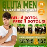 Original Gluta Men Pemutih Kulit Tubuh Badan Wajah Pria Wanita Obat Herbal Vitamin Detox Universal Diskon