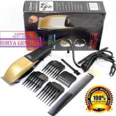 Original Sonar SN 7573 Spesial Edition Alat cukur Rambut Mesin cukur rambut hair clipper alat pangkas rambut sonar barbershop - BLACK GOLD