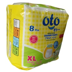 Oto Diapers Pants / Popok Celana Dewasa Uk: Xl Isi:8pcs By Exindosource.