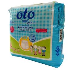 OTO DIAPERS PANTS / Popok Dewasa model Celana ukuran L isi : 8 pcs