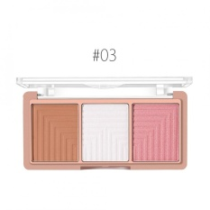 O Dua O 4 Jenis 3 Warna Face Contour Powder Palette Highlighter Blush Bronzer Makeup 3 Intl Diskon Tiongkok