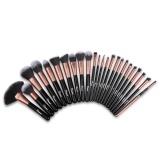 Beli Ovonni Mt026 Professional 24Pcs Superior Cosmetic Makeup Brush Makeup Tools Kit Brush Set Black Brush Roll Intl Cicilan