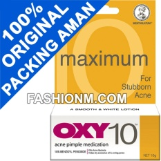 OXY 10 Acne Pimple Medication 10g For Stubborn Acne - Obat Jerawat Bandel