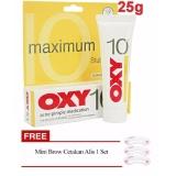 Jual Oxy 10 Obat Jerawat Membandel Parah Acne Pimple Untuk Jerawat Susah Hilang Bestseller Original 25Gr 1 Buah Gratis Cetakan Alis Import