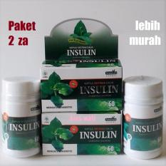 Kapsul Daun Insulin Amanah - Ekstrak Herbal Diabetes - Paket 2 za