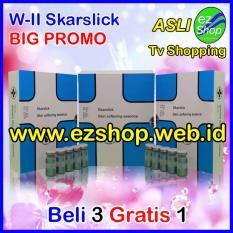Paket BIG PROMO Beli 3 Gratis 1 W-II Skarslick Skin Softening Essence - Serum / Obat Penghilang Bekas Luka Alami (Skar Slick) - Jaminan Asli EzShop - Ez Shop Tv Home Shopping Indonesia