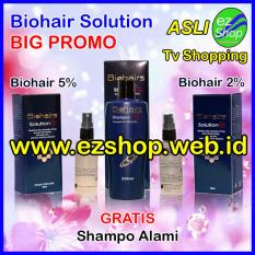 Paket Perawatan BIG PROMO Biohairs Solution Bonus Gratis 1 botol Amino - Tonic / Serum / Obat Penumbuh Rambut Alami (Biohair / Bio Hair / Hairs Shampoo) - Jaminan Asli EzShop - Ez Shop Tv Home Shopping Indonesia