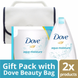 Beli Paket Dove Aqua Moisture Body Wash Bottle Refill 400Ml Free Travel Beauty Bag