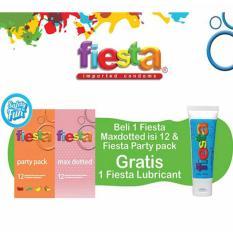 Harga Delin Store Beli Fiesta Party Pack Fiesta Max Dotted 12 S Gratis Fiesta Lubricant Gel Fiesta Lubricant Strawberry Di North Sumatra