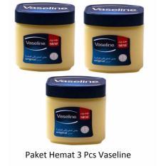 Paket Hemat 3 Pcs Vaseline Pure Petroleum Jelly Original Arab 60Ml Made In Arab 100 Original Vaseline Diskon