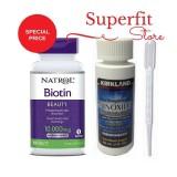 Jual Paket Kirkland Minoxidil 60 Ml Natrol Biotin 10000 Mcg 100 Tablet Penumbuh Rambut Pria Termurah