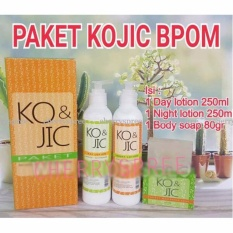 Paket KOJIC BPOM New Whitening Body Pemutih Badan Lotion Day Night Sabun Asli Efektif Memutihkan Kulit