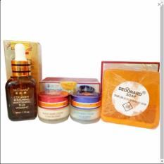 Model Paket Komplit Deoonard Red Bleaching Cream 15Gr Plus Serum Paket Perawatan Wajah Bersih Bersinar Original Terbaru
