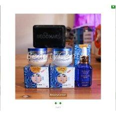 Spesifikasi Paket Komplit Whitening Deoonard Biru Blue 25Gr Cream Sabun Serum 1 Paket Komplit Original Asli Produk Deoonard Online
