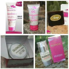 Paket Lengkap Wajah Dan Tubuh Fair n Pink Dan Glutacol