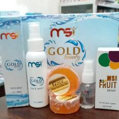 Jual Paket Msi Gold Beauty Face Mist Msi Fruit Serum Sabun Gove 2Biji Di Bali