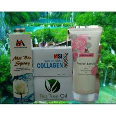 Jual Paket Msi Msi F*c**l Scrub Msi Biospray Sabun Collagen Sabun Tea Tree Oil Original Msi Antik