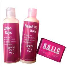 Paket Pemutih Kojic Korea. Sabun+Bleaching Cream+Lotion ORI