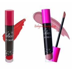 Jual Paket Pixy Lip Cream 02 Party Red Dan 07 Vintage Rose Online Jawa Timur