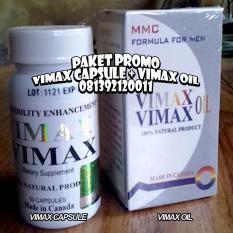 Spesifikasi Paket Promo Obat Herbal Pembesar P Enis Vima X Capsule Vima X Oil Original Asli Canada Terbaru