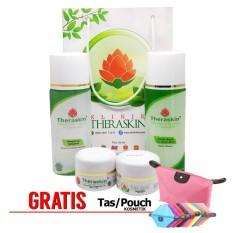 Jual Paket Theraskin Acne Glow Whitening Untuk Kulit Berminyak Gratis Pouch Murah Di Jawa Barat