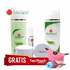 Beli Paket Theraskin Lengkap Paket Whitening Flek Ringan Parah Untuk Kulit Berminyak Kombinasi 5In1 Gratis Pouch Nyicil