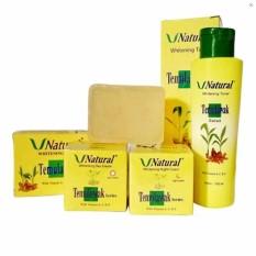 Hirakashop - Paket V Natural Temulawak Bpom 4in1 - Cream Siang & Cream Malam & Sabun & Toner - Perawatan Wajah Lengkap By Hirakashop.