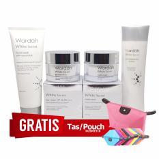 Paket Whitening Wardah White Secret - Paket Lengkap Pemutih Wajah Wardah + Gratis Pouch Kosmetik