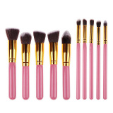Ulasan Tentang Palight 10 Pcs Profesional Make Up Brushes Alat Set Pink Golden