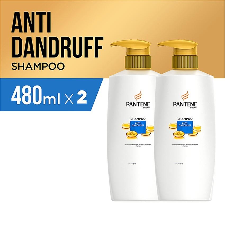 Pantene Shampoo Anti Dandruff 480ml - Paket isi 2