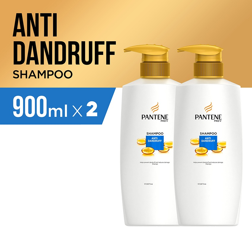 Pantene Shampoo Anti Dandruff 900ml - PACK OF 2 04ccacb2dc