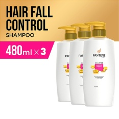 Pantene Shampoo Hair Fall Control 480Ml Paket Isi 3 Pantene Murah Di Jawa Barat