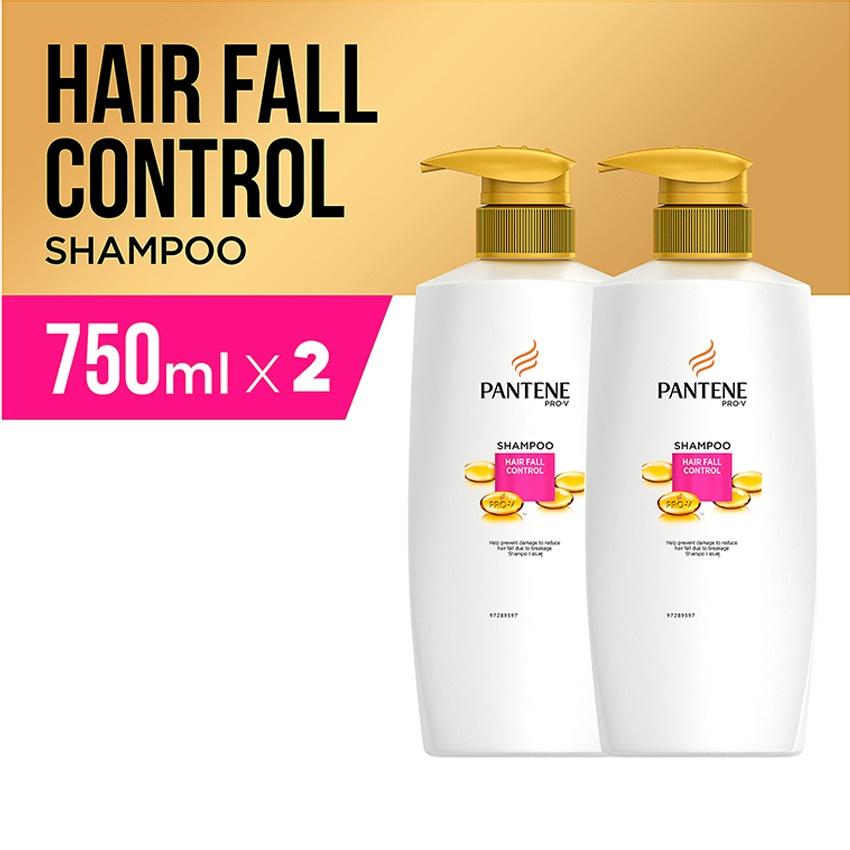 Pantene Shampoo Hairfall Control Quantum 750ml - PACK OF 2