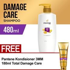 Beehome; Aksesori Rambut Pantene. Pantene Shampoo Total Damage Care 480ml FREE Pantene Conditioner 3 Minutes Miracle Quantum Total Damage Care