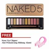 Beli Parkinson N*k*d 5 Eyeshadow Professional 12 Warna Eyeshadow Makeup Pallete Kit N5 Gratis Nose Up Clipper Alat Pemancung Hidung 1 Buah Seken