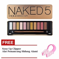 Promo Parkinson N*k*d 5 Eyeshadow Professional 12 Warna Eyeshadow Makeup Pallete Kit N5 Gratis Nose Up Clipper Alat Pemancung Hidung 1 Buah Murah