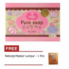 Parkinson Pure Soap by Jellys - Sabun Pemutih Muka Dan Badan - 1 Buah + Gratis Naturgo Masker Lumpur - 1 Buah