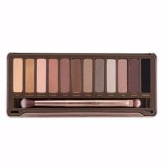 Parkinson Urban Decay Naked 2 Eyeshadow - Professional 12 Warna Eyeshadow Makeup Pallete Kit N2