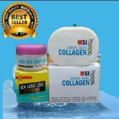 Pemutih alami Cream GAMAT reaksi cepat  DAN SABUN MSI COLLAGEN