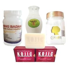 Pemutih Kulit Bibit Colagen + Bleaching Super + Body Lotion Pemutih + Sabun Kojic
